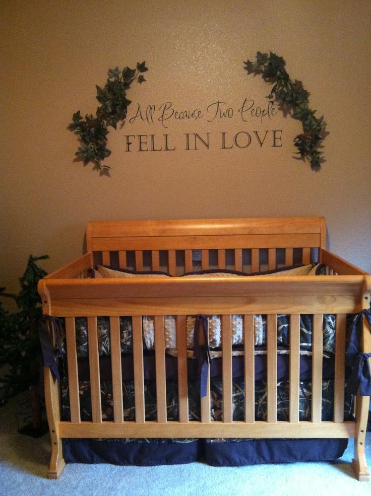 Zane's nursery, camo boys room