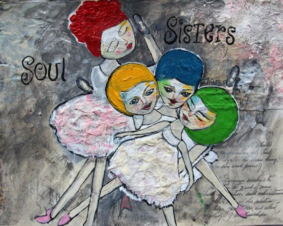 Soul Sisters Illustration Art Print  by JeanetteMacDonaldArt, $21.95