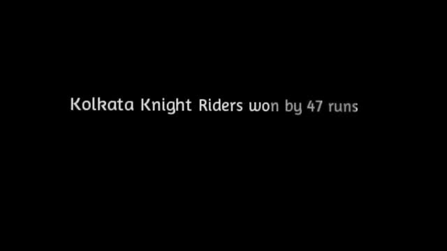 38th match - Kolkata Knight Riders won by 47 runs [VIDEO] - created using www.picovico.com