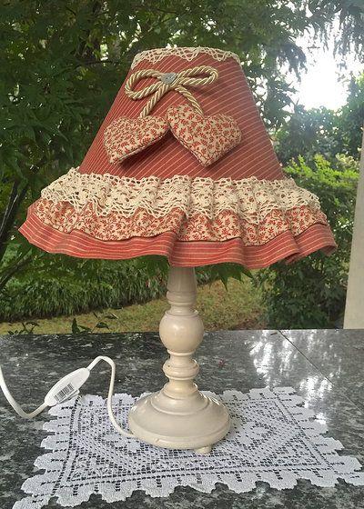 LAMPADA ROMANTIC SHABBY CON PIZZO
