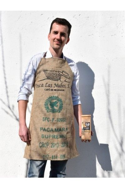 coffee bean sack apron made by Kapucziner