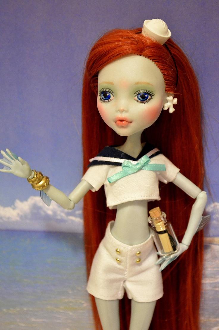 Naudia The Sailor Girl OOAK Monster High Doll Repaint Reroot Custom Lagoona   eBay