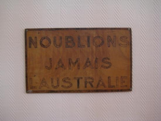 N'oublions jamais l'Australie /// Never forget Australia. It's above every school blackboard in Villers-Bretonneux in honour of the Aussie soldiers posted there in WWI. (Northern France)