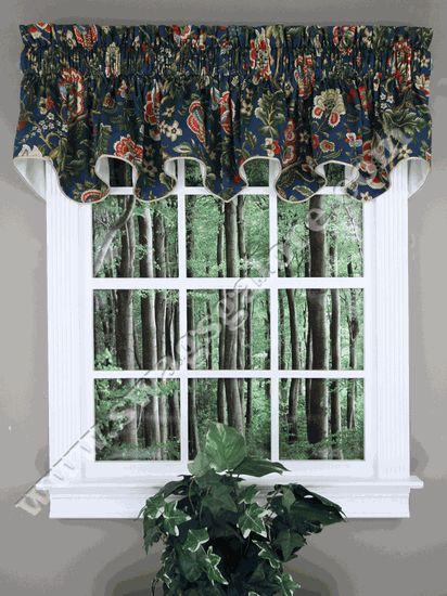Regency Duchess Filler Valance - Navy -  Ellis - Waverly Curtains 50'' wide,  $34.99