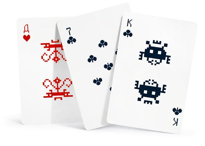 Space Invaders eight-bit playing cards by Art. Lebedev Studio (2011)