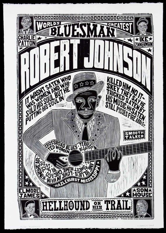Robert Johnson Poster #blues#poster