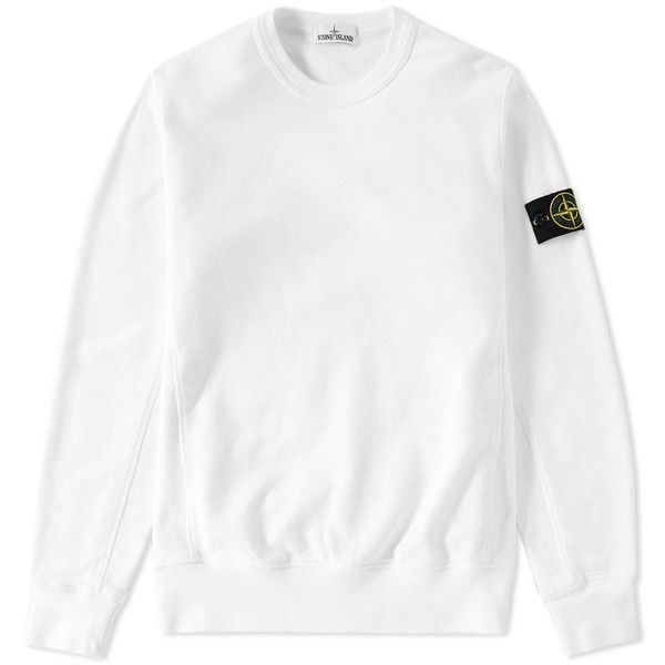Stone Island Garment Dyed Heavyweight Crew Sweat ($180) ❤ liked on Polyvore featuring men's fashion, men's clothing, men's hoodies, men's sweatshirts, mens crew neck sweatshirts, mens crewneck sweatshirts and mens short sleeve sweatshirt