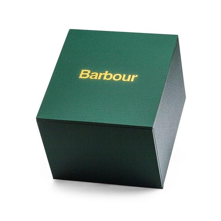 Montre Homme Barbour Glysdale Bracelet Toile De Coton Et Cuir Véritable – Taille : Taille Unique