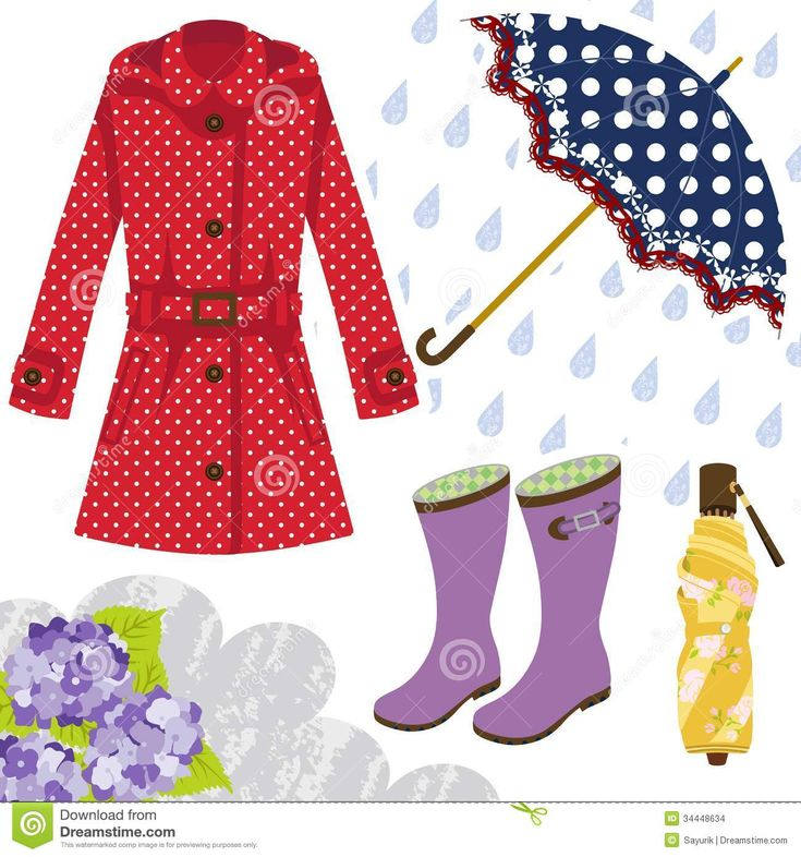 Rainy Clothes Clipart Rain Gear For Women Clothes
