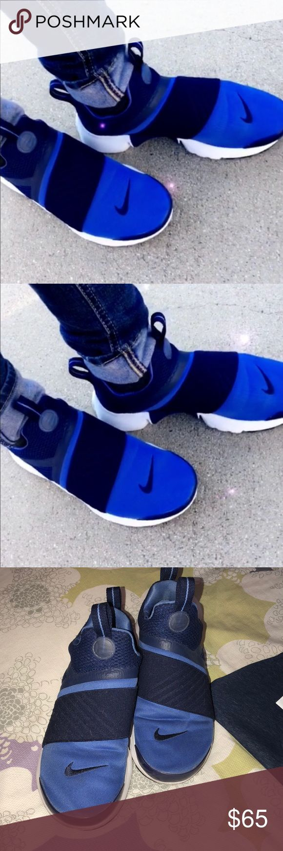 NIKE shoes with matching tank ✨💙👟✨ NIKE presto slip ons. Great for running or a sporty chic look ✨💙👟✨  tank top is a XS AND IS the $10 added to this price. With our shirt shoes alone are $50 please comment if you would like more pictures or information dolls 😘 Nike Shoes Athletic Shoes