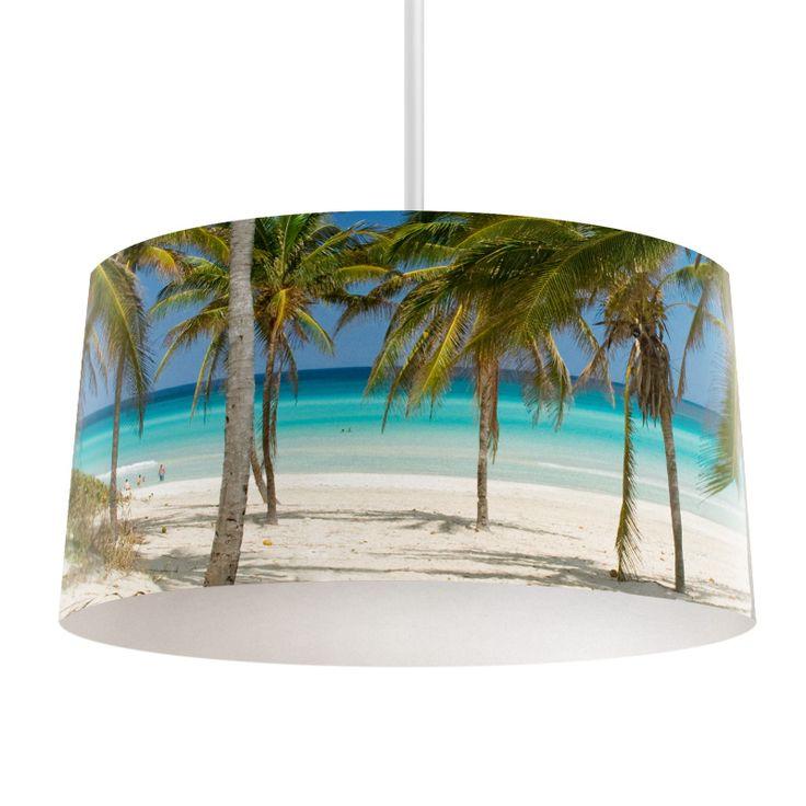Lampenkap Strand Cuba | Bestel lampenkappen voorzien van digitale print op hoogwaardige kunststof vandaag nog bij YouPri. Verkrijgbaar in verschillende maten en geschikt voor diverse ruimtes. Te bestellen met een eigen afbeelding of een print uit onze collectie. #lampenkap #lampenkappen #lamp #interieur #interieurdesign #woonruimte #slaapkamer #maken #pimpen #diy #modern #bekleden #design #foto #cuba #strand #tropisch #vakantie #zomer #herinneringen #palmbeach #zon #zee #oceaan