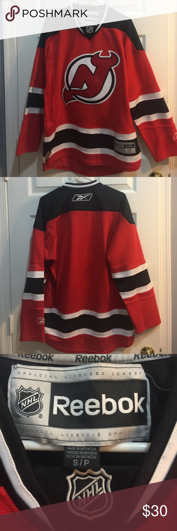 New Jersey Devils Jersey Size small, only worn once to a game, great condition Reebok Tops Tees - Long Sleeve