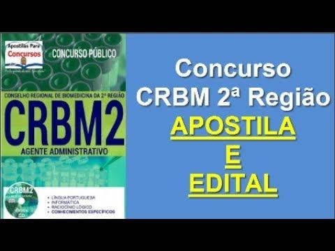 Apostila Edital Concurso CRBM 2ª Região 2017: Agente Administrativo