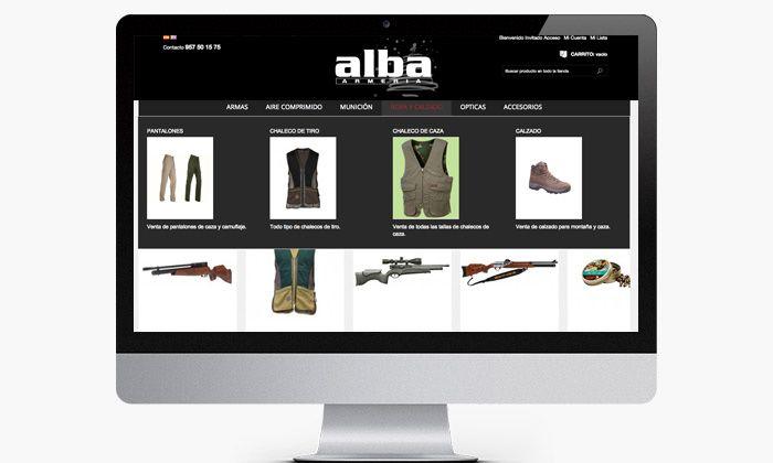 Menu Responsive para tienda online de productos de caza