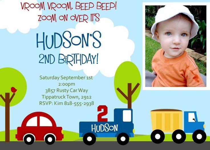 LITTLE CARS and TRUCKS Birthday Invitation Car birthday invitation – Truck Birthday Party Invitations