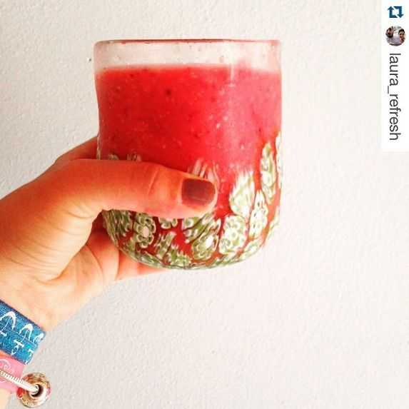 "Thank you @Laura_refresh for sharing this wonderful ""Virgin Raspberry""! ;)   #abatezanetti #glass #murano #cocktail #drink #food #hot #fresh #juice"