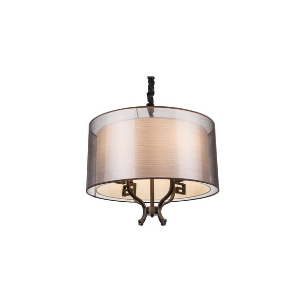 LAMPA wisząca JUAN 69009-4H Globo abażurowa OPRAWA metalowa zwis brąz antyczny