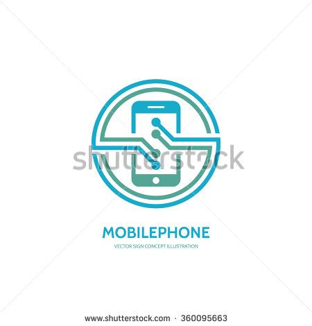 Mobile phone vector logo concept illustration. Smartphone vector logo creative illustration. Mobile technology logo. Cellphone logo. Mobile phone logo design. Vector logo template. Design element.