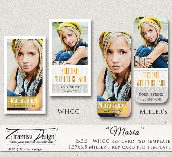 INSTANT DOWNLOAD Senior Rep Card Adobe Photoshop by TiramisuDesign, $5.20