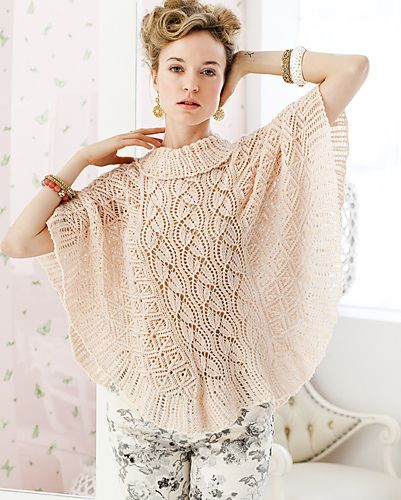 Vogue Knitting Cape Pattern : Lace poncho - love it. Ravelry: #05 Lace Poncho pattern by Lisa Daehlin Kni...