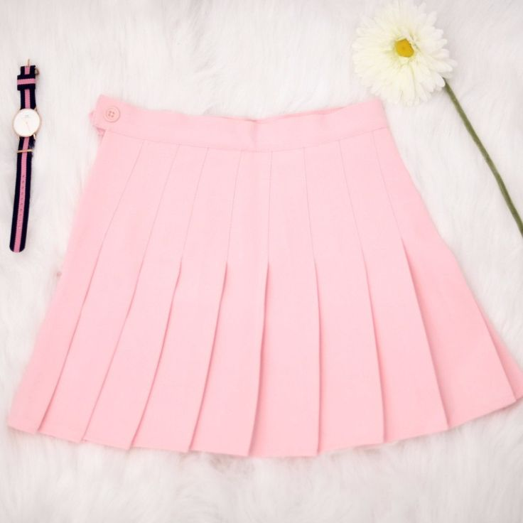 Just like AA's essential pleated tennis skirt. The skirt is high waisted and is long enough to be somewhat modest, or you can pull it higher for a sexier look. Our skirts are not sheer; be careful whe