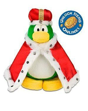 Disney Club Penguin 6.5 Plush King Roi (Coin with Code Included)