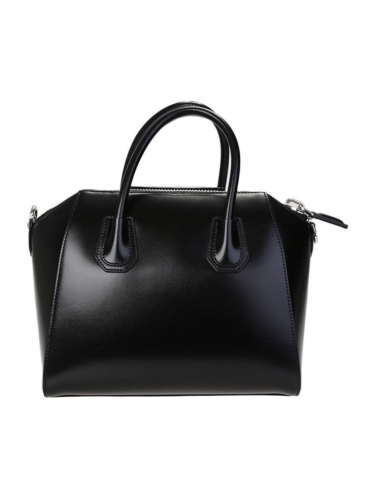 GIVENCHY BLACK LEATHER ANTIGONA BAG. #givenchy #bags #shoulder bags #hand bags #leather #