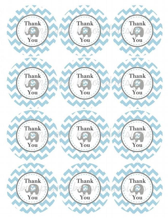 It is an image of Baby Shower Thank You Tags Printable inside card