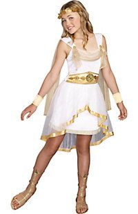 Girl's Miss Olympian Costume