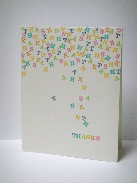 6 letters stamped repeatedly.. simple but so cute