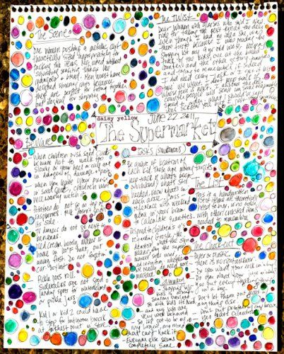 Love that these are just random thoughts, paired with random happy colored bubbles!