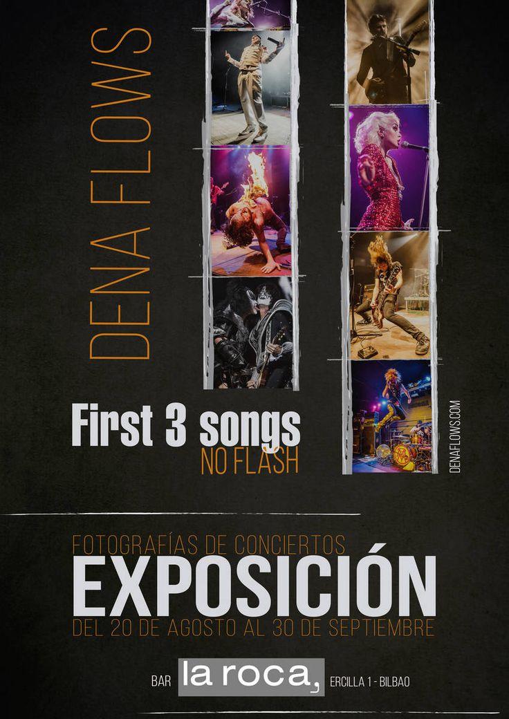 EXPOSICIÓN – First 3 songs, no flash. Fotos de conciertos por Dena Flows   http://denaflows.com/exposicion-fotos-de-conciertos-la-roca-bilbao/
