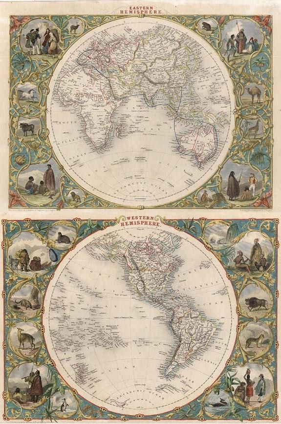 Eastern Hemisphere [and] Western Hemisphere - Barry Lawrence Ruderman 1851