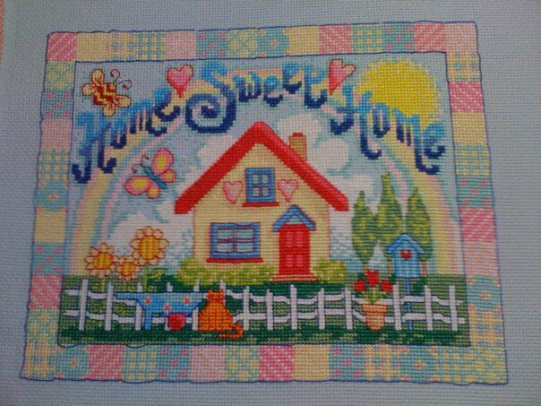 Cross Stitched created for our first home. July 2010.