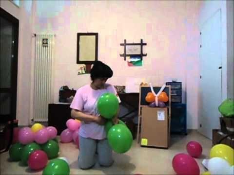 Tutorial passo passo per creare il fiore di palloncini