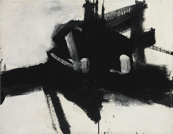 Franz Kline, INTERSECTION, 1955 (est. $3-4 million) | Sotheby's Contemporary Art Evening Auction
