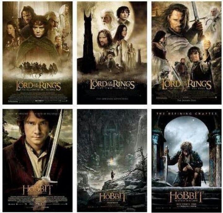Lords Of The Rings And Hobbit In Order Movies