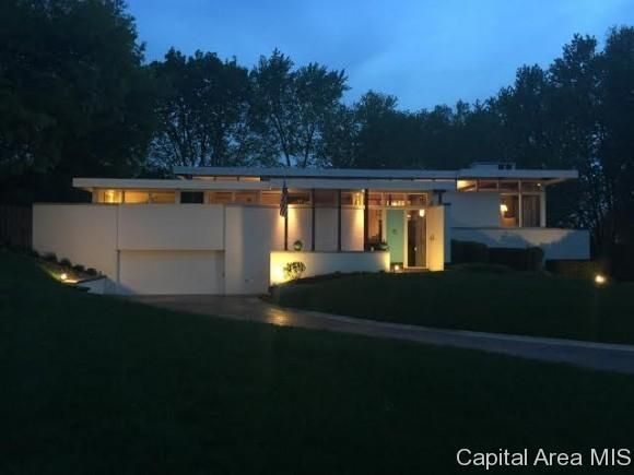 Mid century modern home springfield il