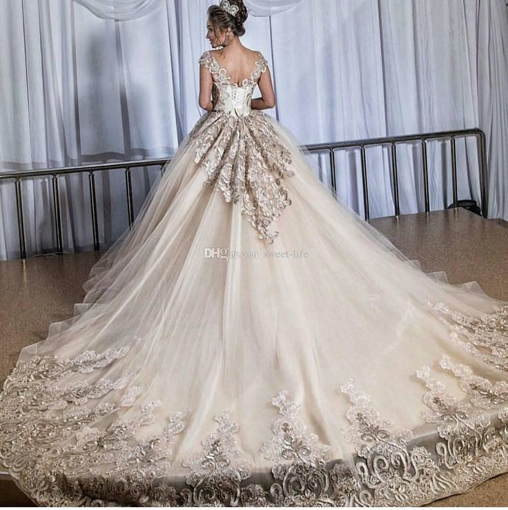 Plus Size Wedding Dresses Champagne: Plus Size Vintage Lace Wedding Dresses Champagne Tulle