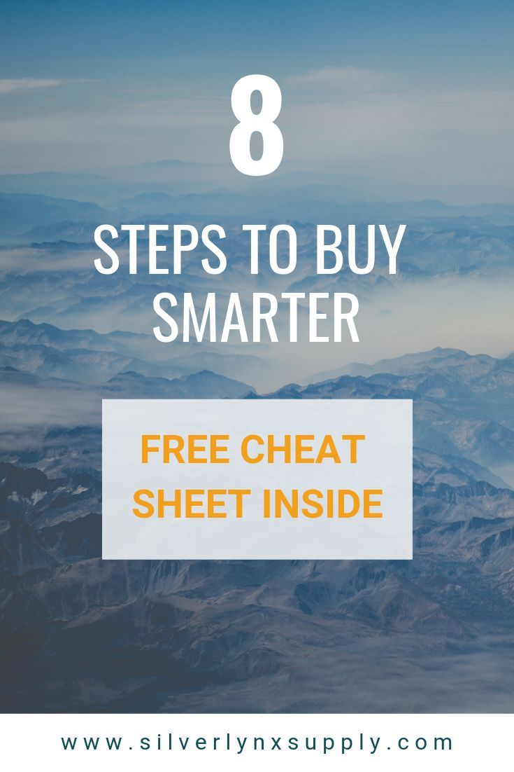 Let Us Help You Improve Your Purchasing Process With This 8 Step Guide Includes A Free Cheat Sheet With 24 Additional Tips Cl Saving Money Improve Step Guide