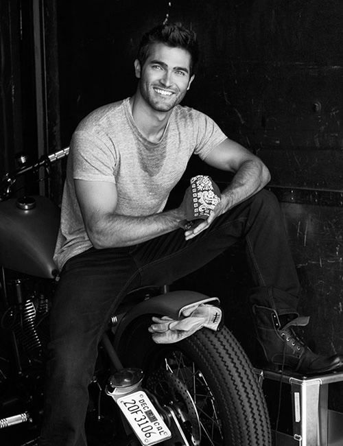 Tyler Hoechlin I don't care if his Teen Wolf character loses every single fight he's ever engaged in. I would carry a large First Aid kit and tend to his wounds.
