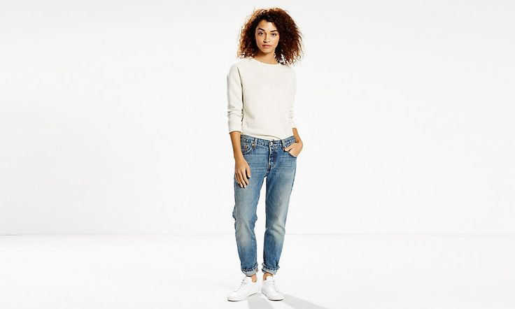 """The evolution of an icon. The 501® Original, customised with a perfect tapered leg. With a classic button fly, the 501® CT Jeans feature a straight fit through the hip and thigh with a tapered leg that we wear rolled for style. Size up for a relaxed look or downsized and sexy, depending on your style. This pair comes in premium selvedge denim. Selvedge comes from the term """"self-edge"""", the woven strip on both edges of a roll of fabric. It's traditionally woven on narrow-width shuttle looms…"""