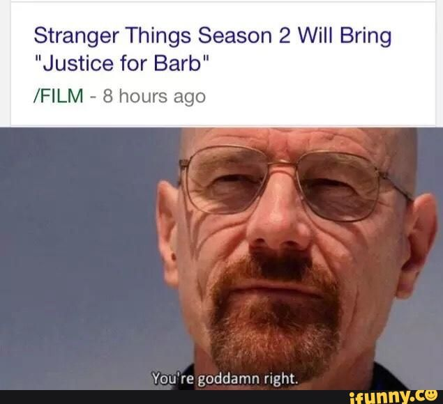 Stranger Things season 2 JUSTICE FOR BARB