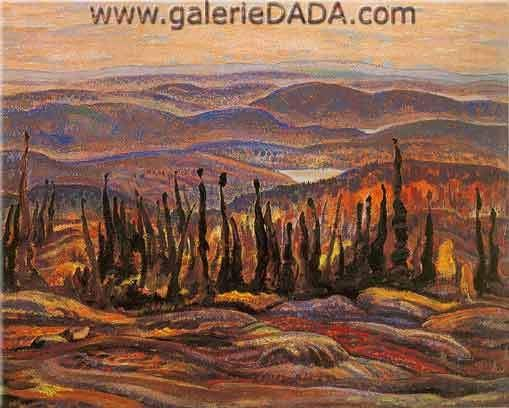 Alexander Y. Jackson,  South from Great Bear Lake Fine Art Reproduction Oil Painting
