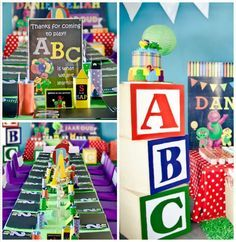 Barney & Friends ABC Birthday Party via Kara's Party Ideas | KarasPartyIdeas.com (1)