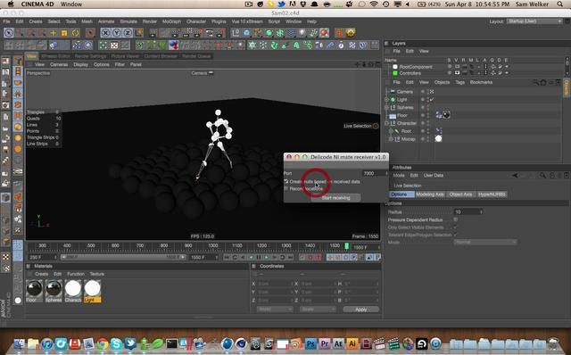 Cinema 4D Tutorial 24: Introduction to Motion Capture in C4D with the Kinect by Sam Welker. First let me apologize for 2 things. I was skyping during this a tiny bit, I had to take care of some stuff and it was the only time i could fit in a tutorial. Also the microphone was being flooded by noise from my macbook fan. Sorry about that, it may be hard to hear, however you mostly miss me ranting about useless subjects.