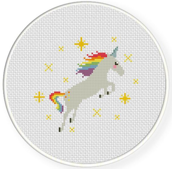 FREE for July 9th 2014 Only - Lovely Unicorn Cross Stitch Pattern