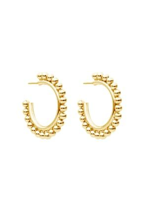 Dina Earrings S/Steel Round Balls Gold