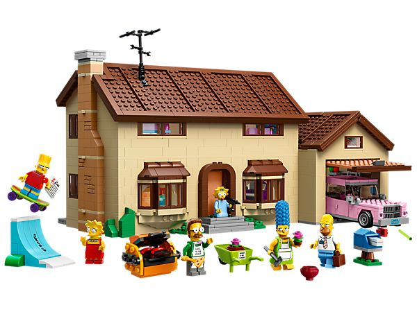 Dooh! The Simpsons House has been turned into LEGO bricks!