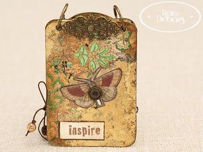 gold vintage notepad